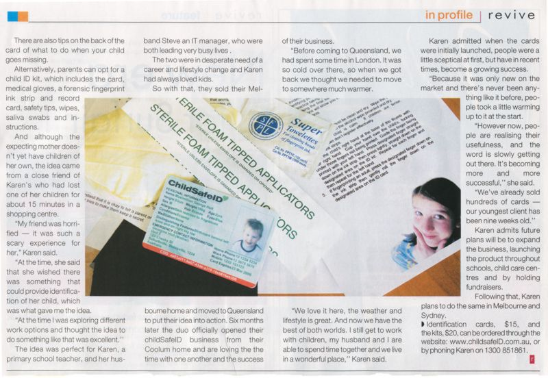 Child safe id cards respond faster with child safe id cards ids new feature about us in the press solutioingenieria Images